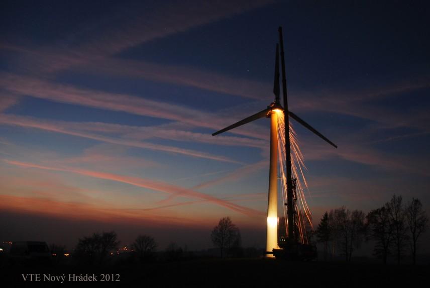 Demontáž větrné elektrárny – Nový Hrádek