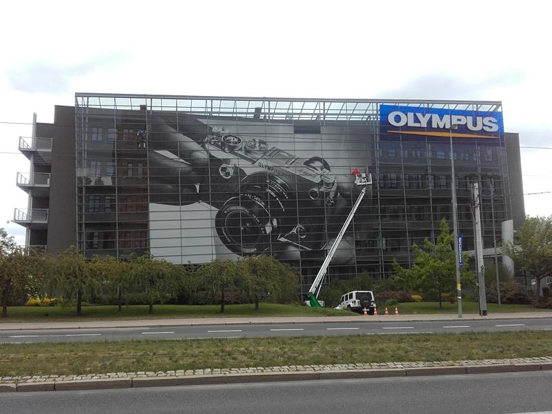 Montáž reklamy - Olympus